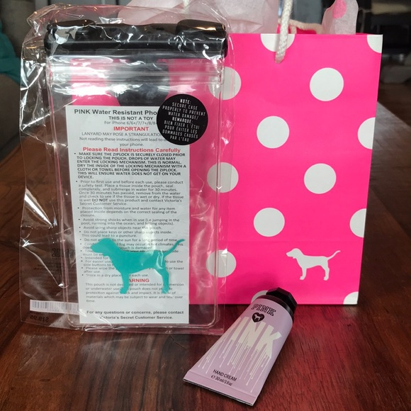 free shipping 3c100 cb481 PINK Water Resistant Phone Pouch ✨Bonus Hand Cream NWT